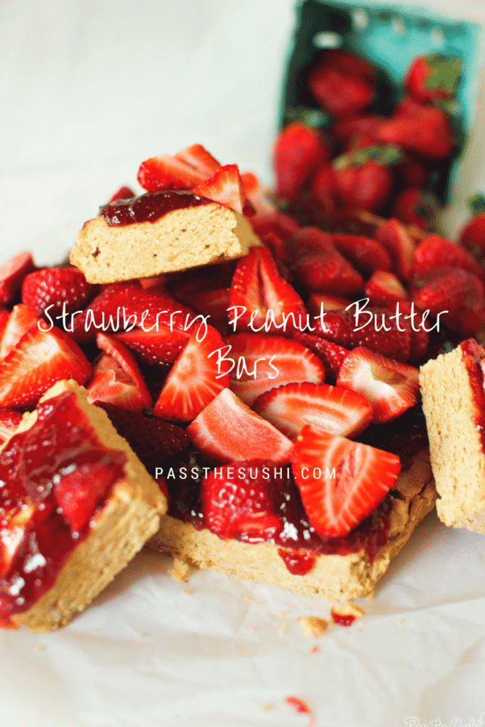 Strawberry Peanut Butter Bars {Pass the Sushi}