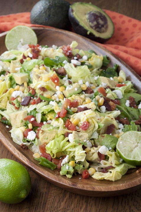 BLT Chopped Salad with Avocado {Wishes and Dishes}