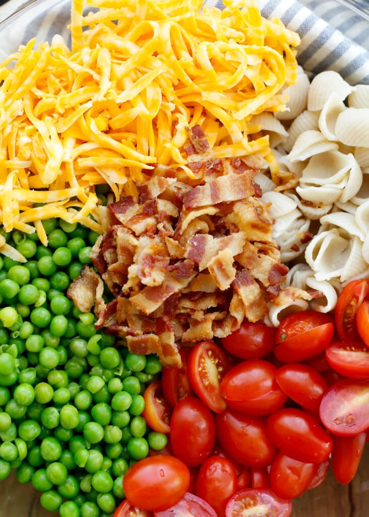 Bacon Ranch Pasta Salad - get the recipe at barefeetinthekitchen.com