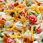 Bacon Ranch Pasta Salad is a kid favorite!