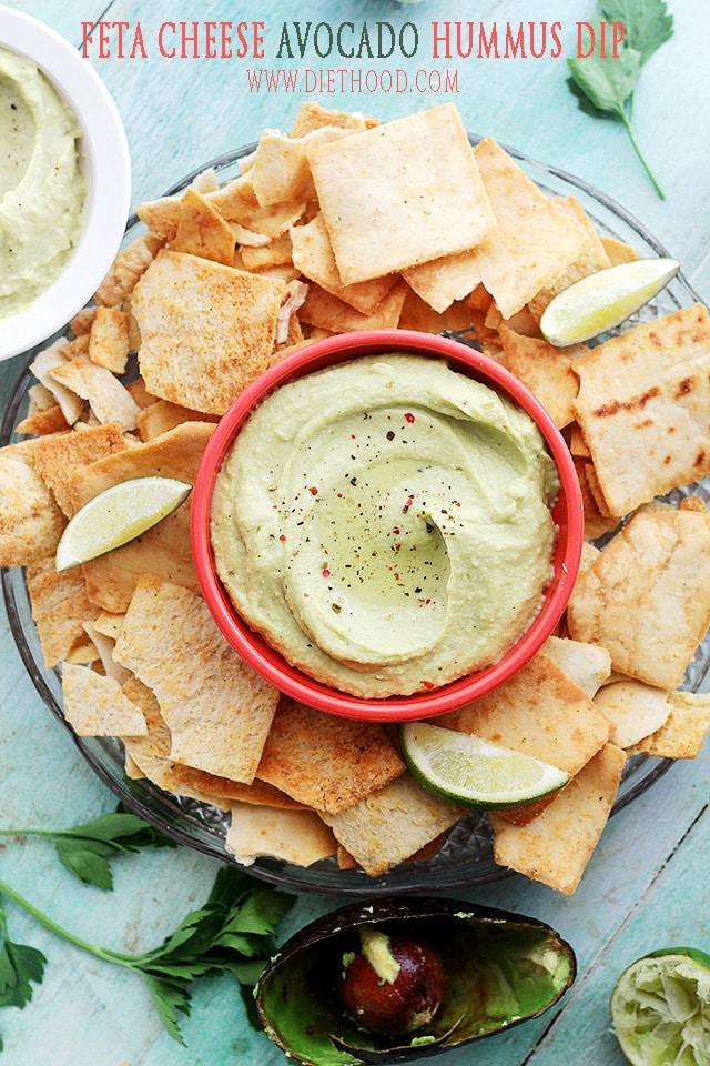 Avocado and Feta Cheese Hummus Dip {Diethood}