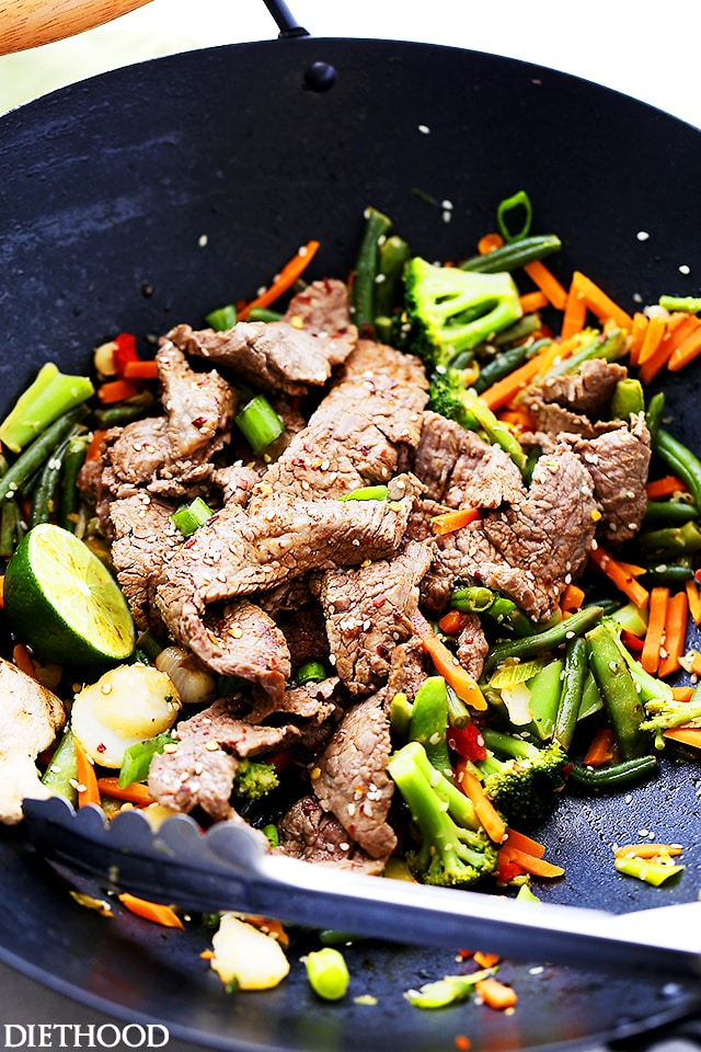 Ginger Lime Beef Stir Fry {Diethood}