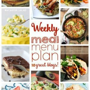 Weekly Meal Plan for May 23 – May 29