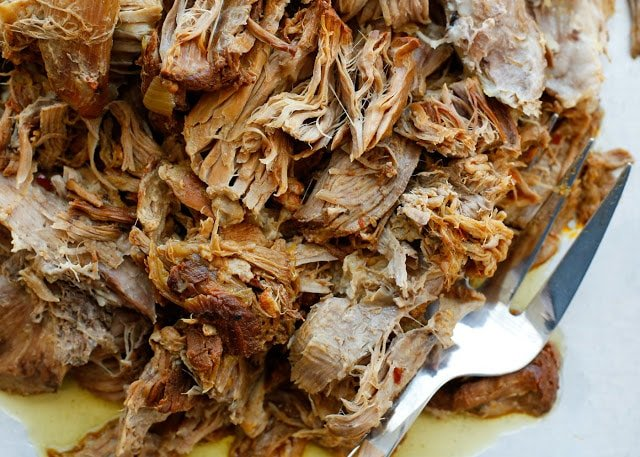 Sweet and Tangy Pulled Pork recipe with directions for the slow-cooker and then pressure-cooker.