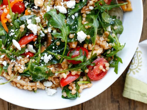 Summer Israeli Couscous Salad Barefeet In The Kitchen