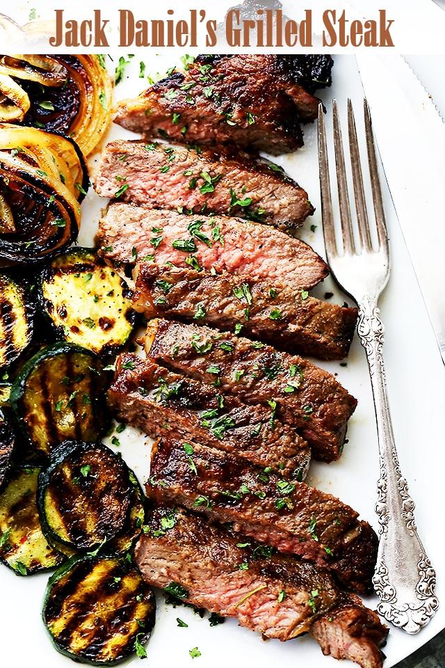 Jack Daniels Grilled Steak {Diethood}