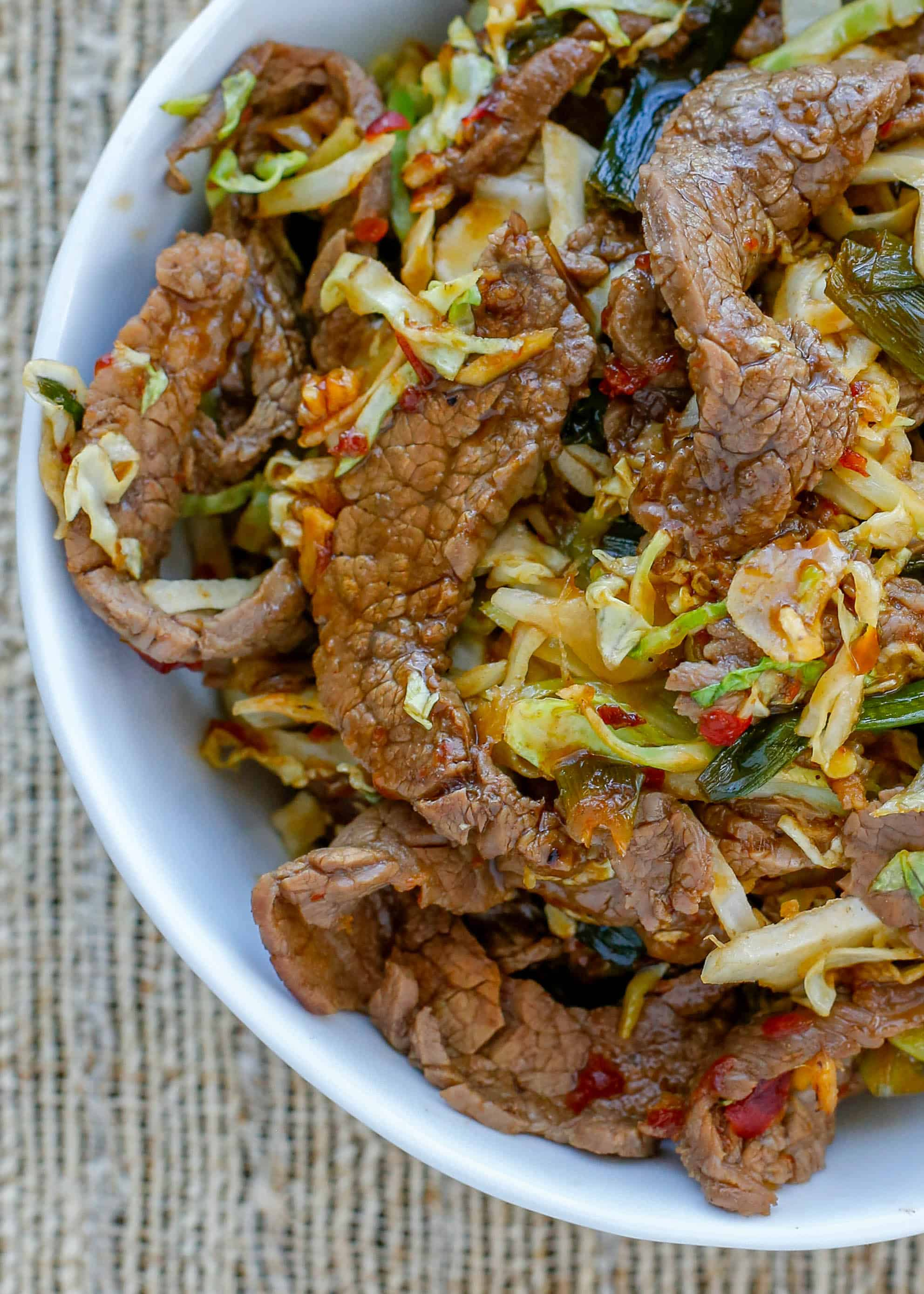 Mongolian Beef With Noodles Barefeetinthekitchen Com