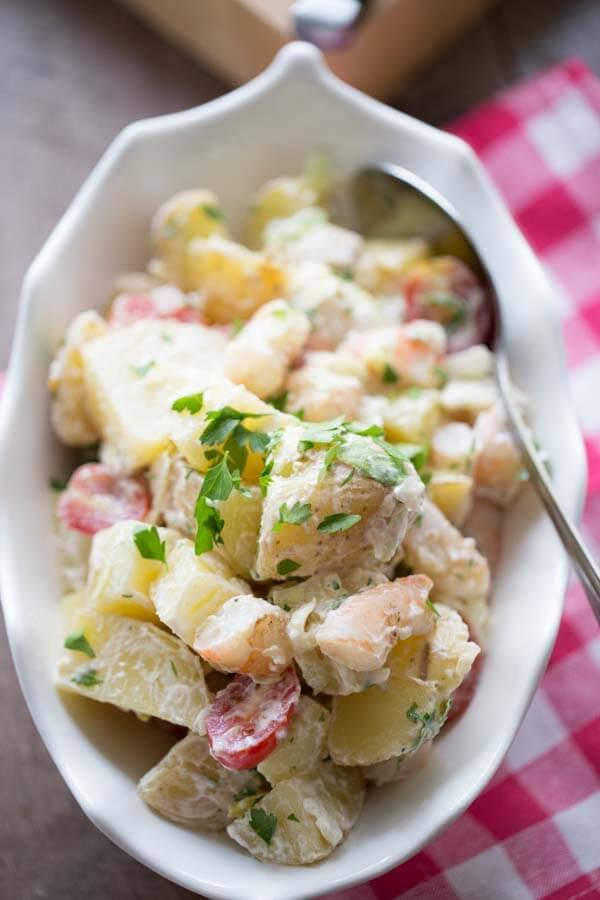 Grilled Po Boy Potato Salad {Lemons for Lulu}