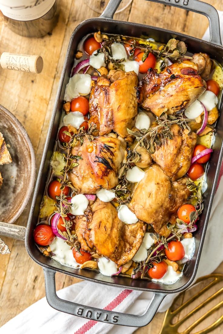 Balsamic Glazed Chicken {The Cookie Rookie}