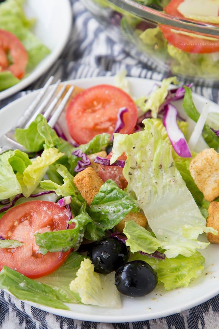 Copycat Olive Garden Salad {Yellow Bliss Road}