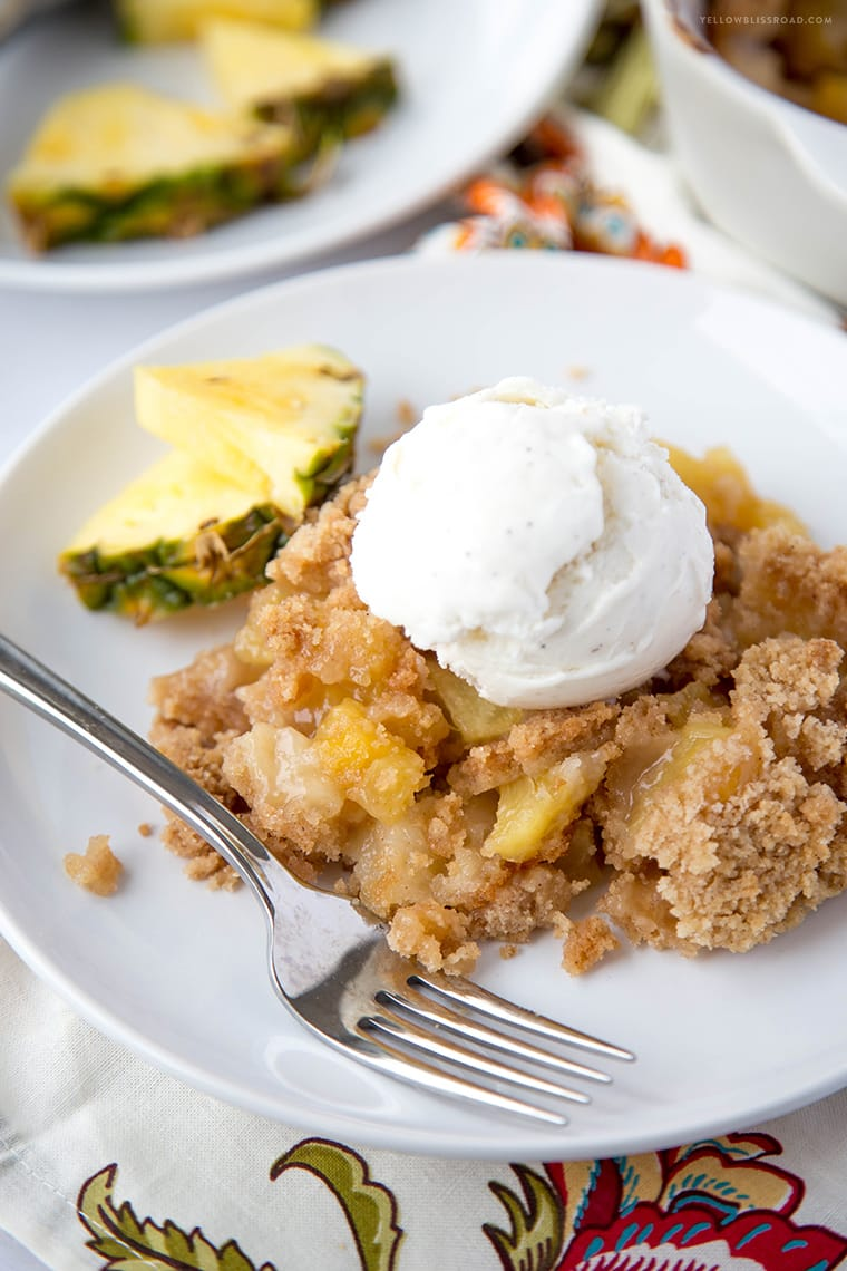 Pineapple Cobbler {Yellow Bliss Road}