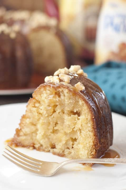 Salted Caramel Kentucky Butter Cake {Wishes & Dishes}