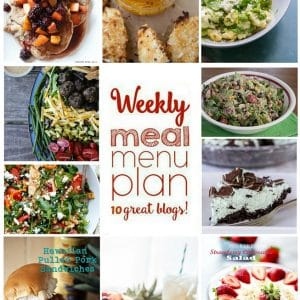 Weekly Meal Plan for July 18 – July 24