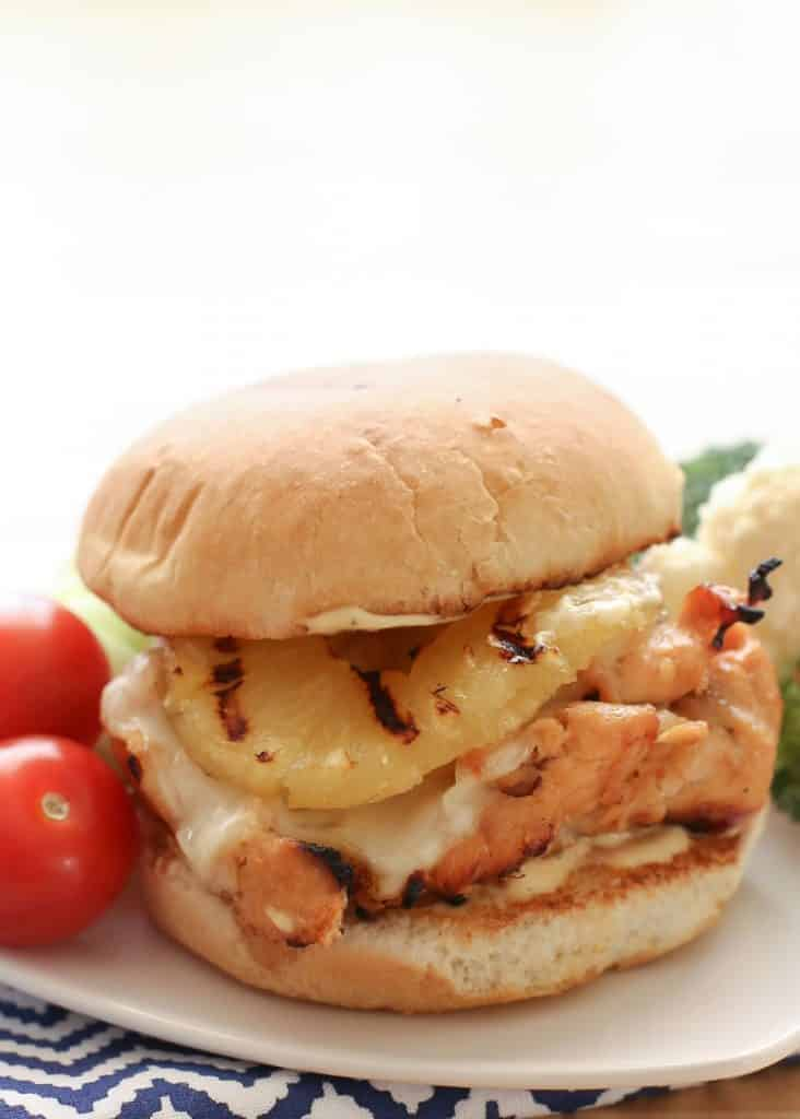 Hawaiian Grilled Chicken Sandwiches {Barefeet in the Kitchen}