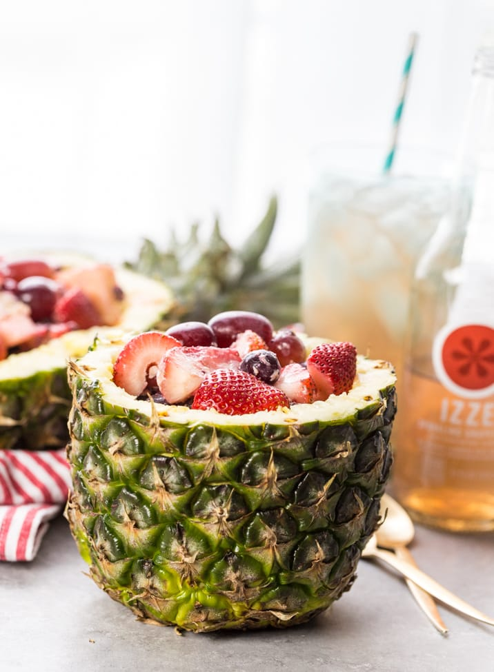 Fruit Salad in Pineapple Bowls {Cookie Rookie}