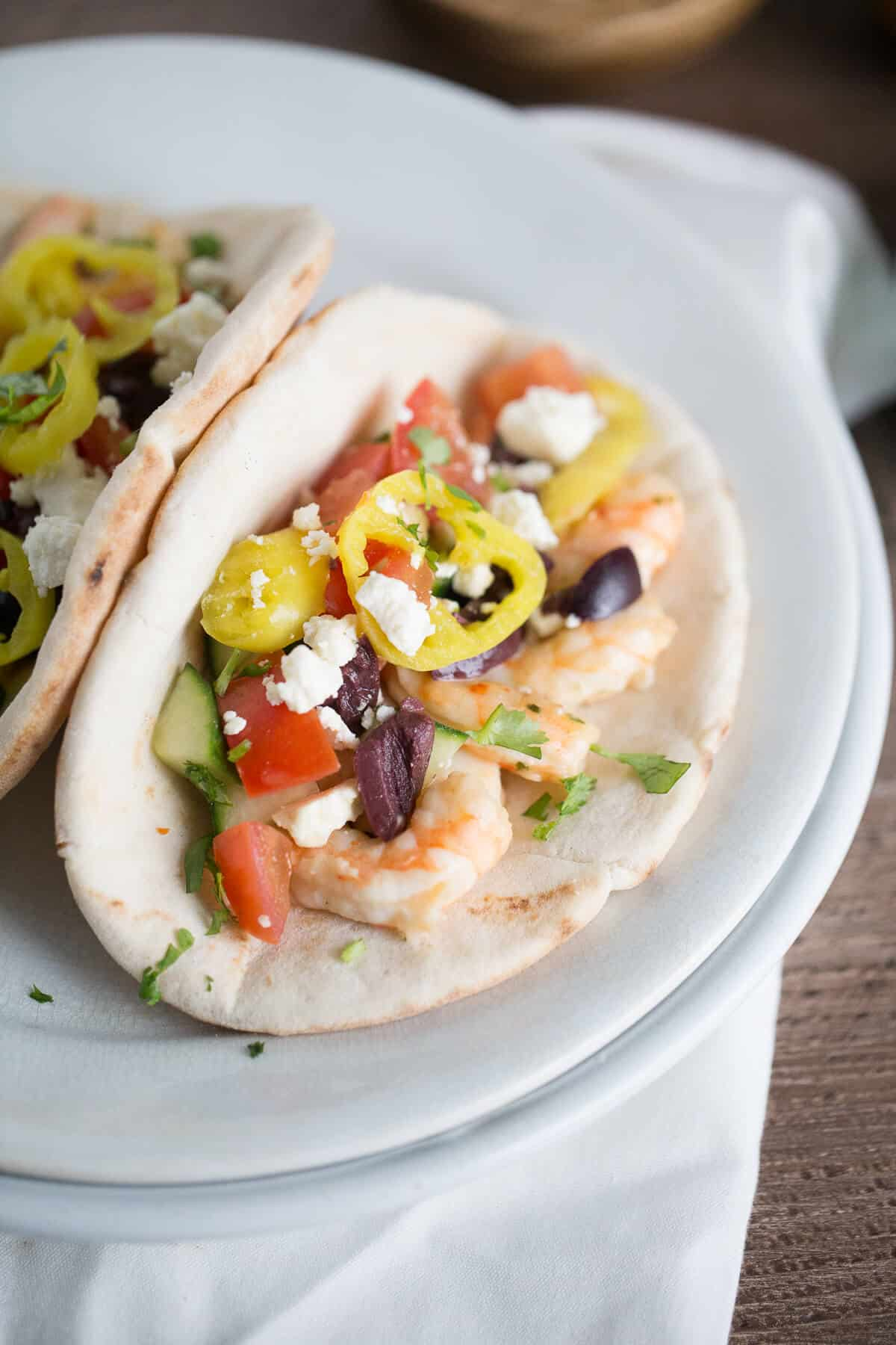 Garlic Shrimp Gyro Sandwiches {Lemons for Lulu}