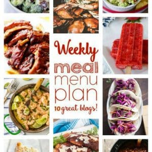 Weekly Meal Plan for August 22 – August 28