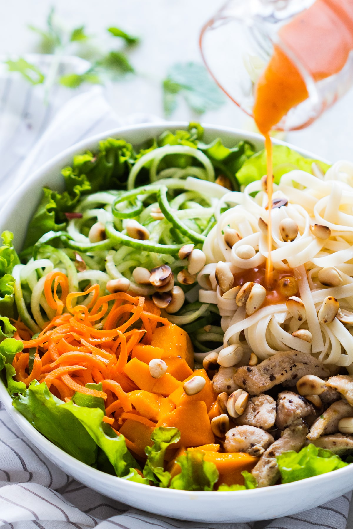 Tropical Mango Noodle Salad {Sweet C's}