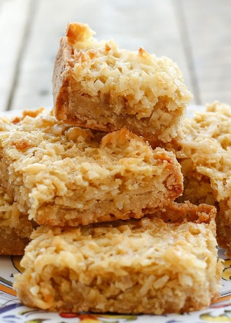Chewy Coconut Bars {Barefeet in the Kitchen}