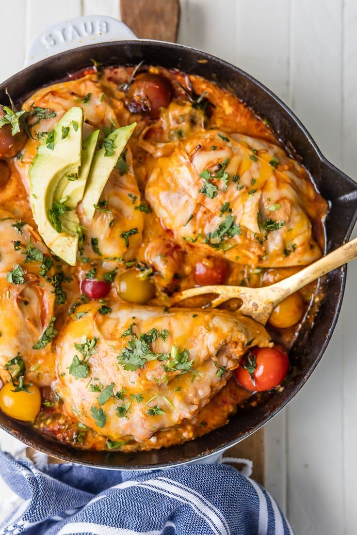 Enchilada Stuffed Chicken {The Cookie Rookie}