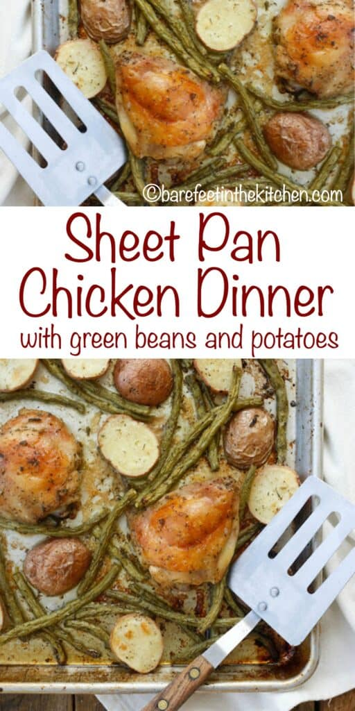 Sheet Pan Dinners are a huge favorite with everyone! get the recipe at barefeetinthekitchen.com