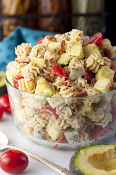Chicken Club Pasta Salad {Wishes & Dishes}
