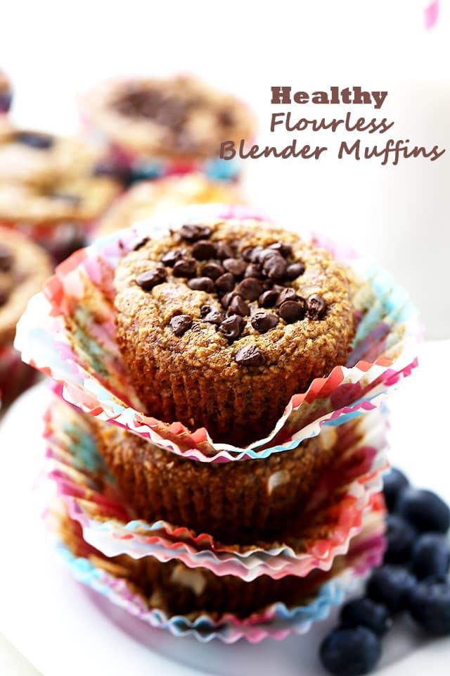 Flourless Blender Muffins {Diethood}