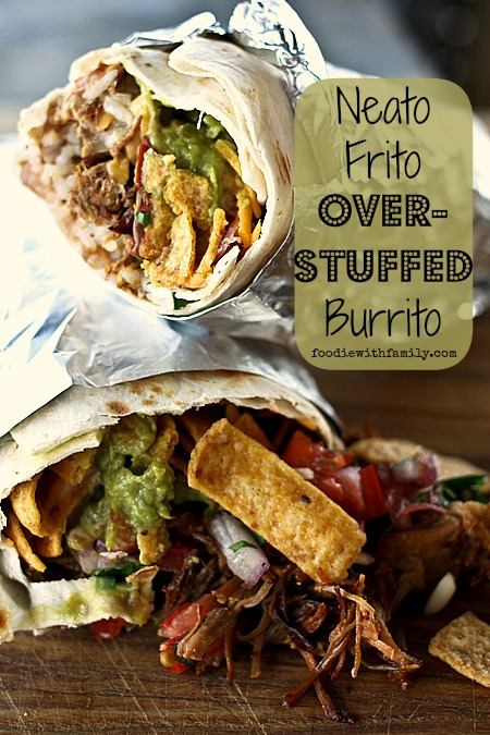 Neato Frito Overstuffed Burritos {Foodie with Family}