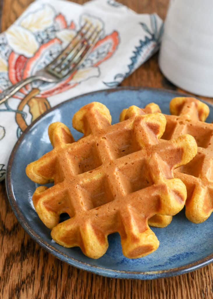 Pumpkin Spice Waffles are a fall favorite!