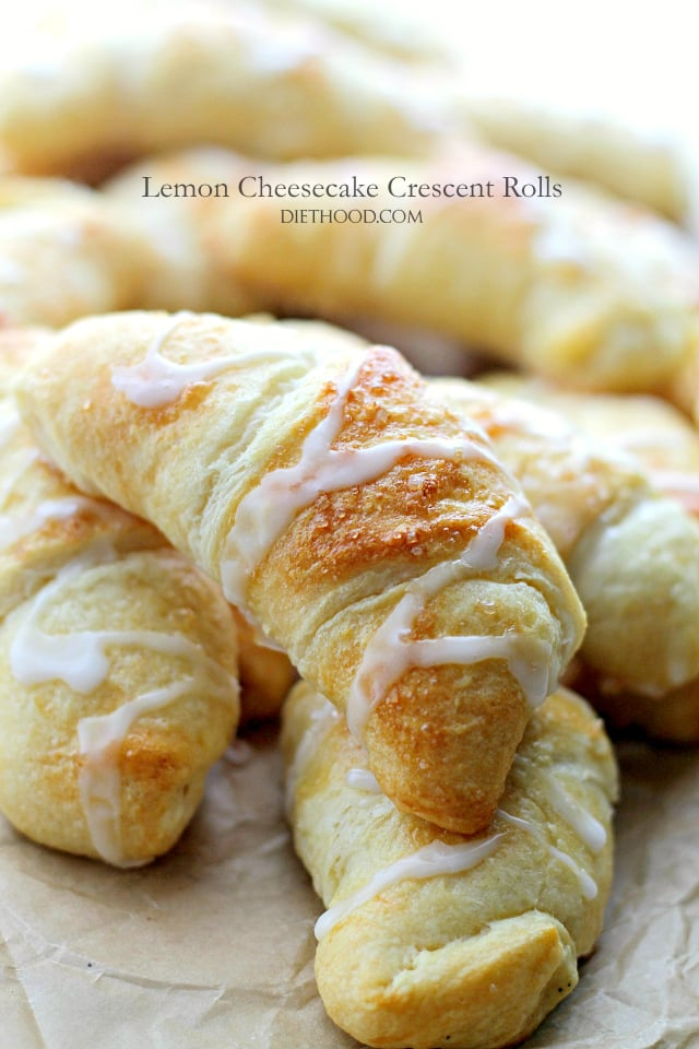 Lemon Cheesecake Crescent Rolls {Diethood}