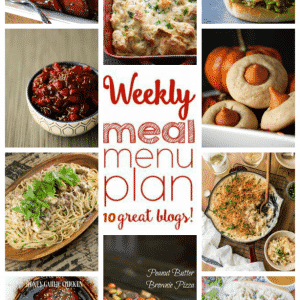 Weekly Meal Plan for October 31 – November 6