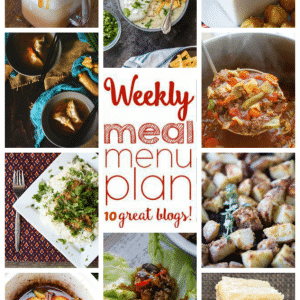 Weekly Meal Plan for October 24 – October 30
