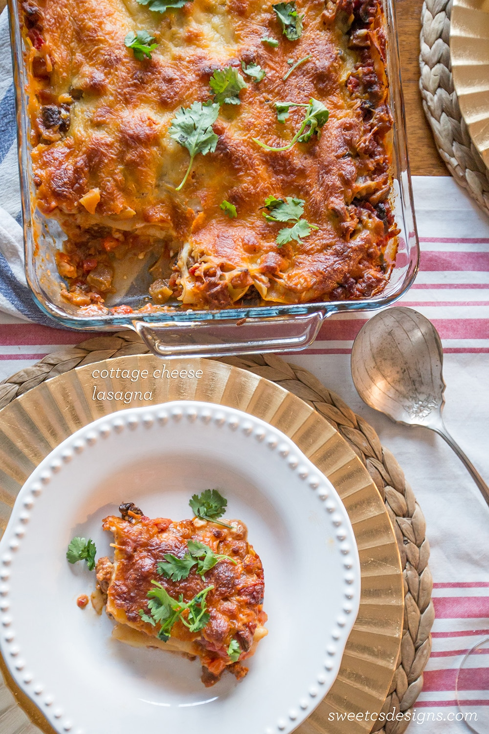 Cottage Cheese Lasagna {Sweet C's}