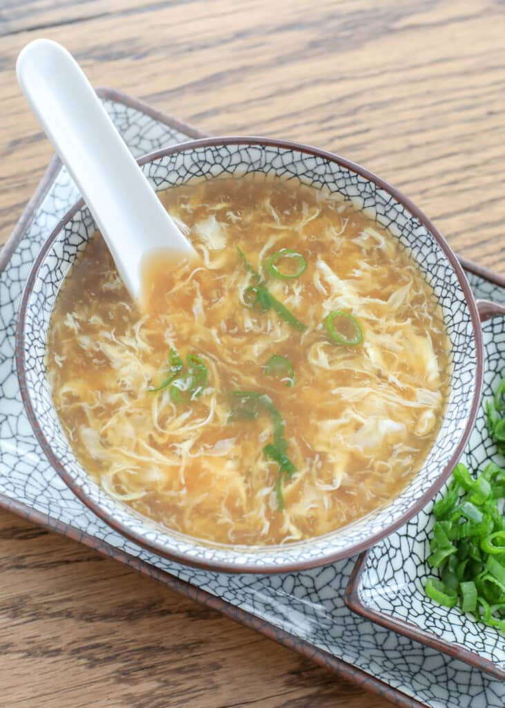 Chinese Egg Drop Soup is an EASY lunch or dinner any day of the week!