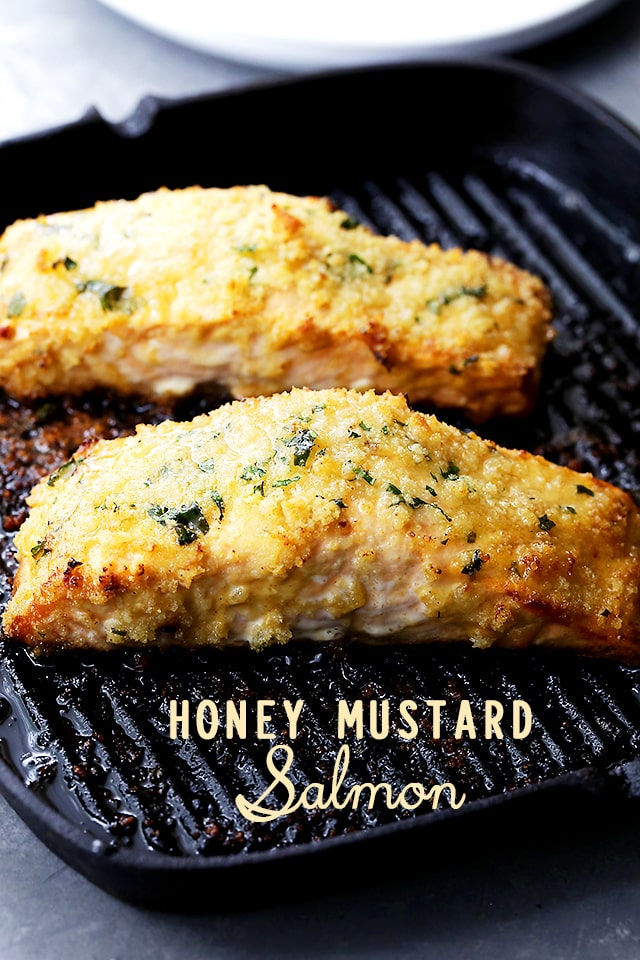 Honey Mustard Salmon {Diethood}