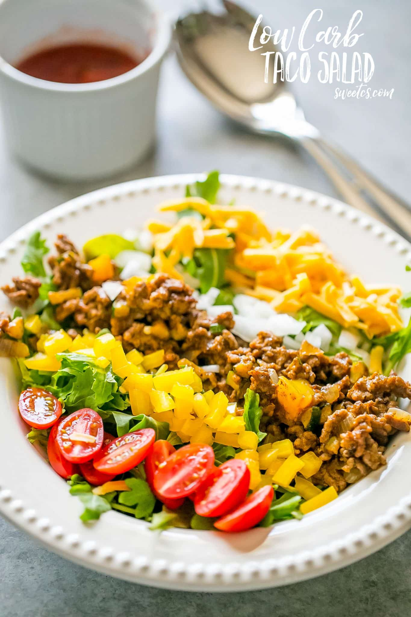 Low Carb Taco Salad {Sweet C's}