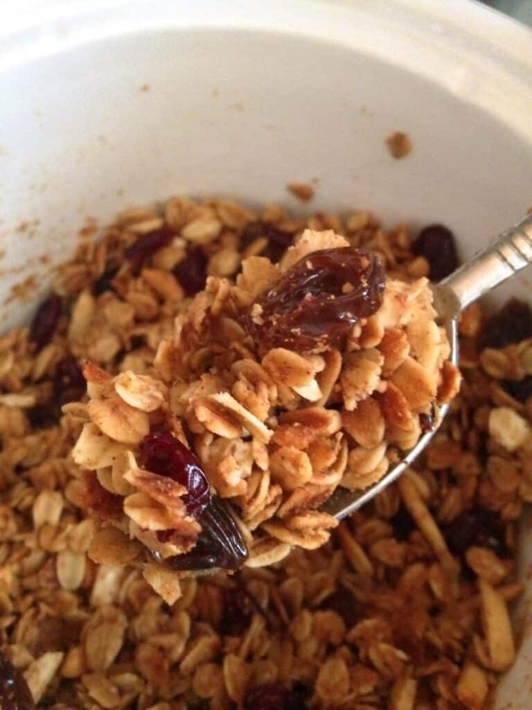 This Slow-Cooker Granola is the easiest, tastiest granola you will ever make! - get the recipe at barefeetinthekitchen.com