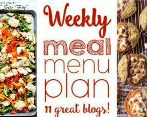Weekly Meal Plan for January 2 – January 8
