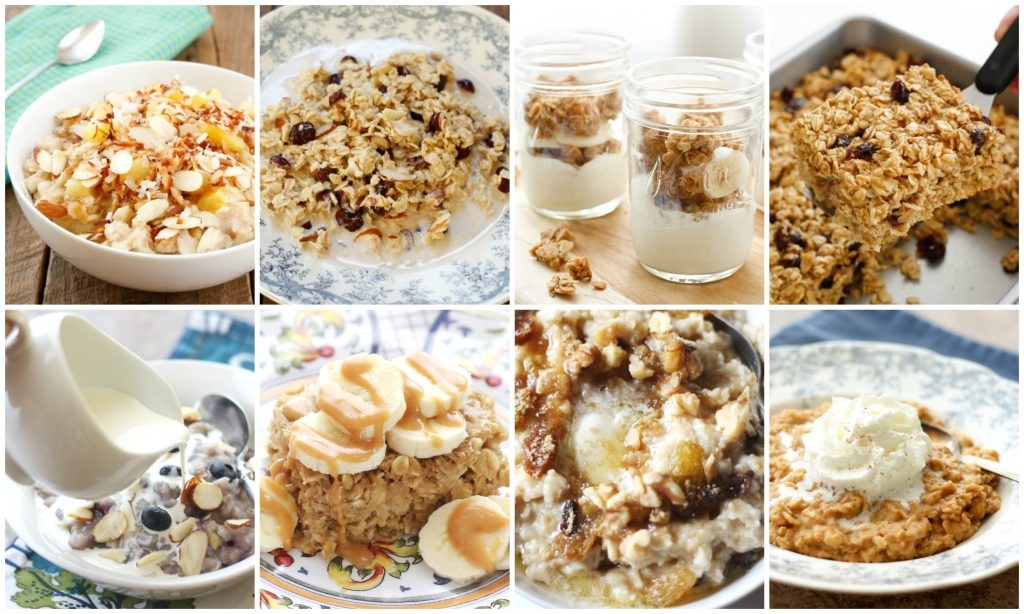 Oatmeal Recipes for every day - baked, slow cooked, or on the stove!