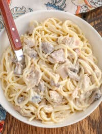 Kids and adults alike love this chicken tetrazzini