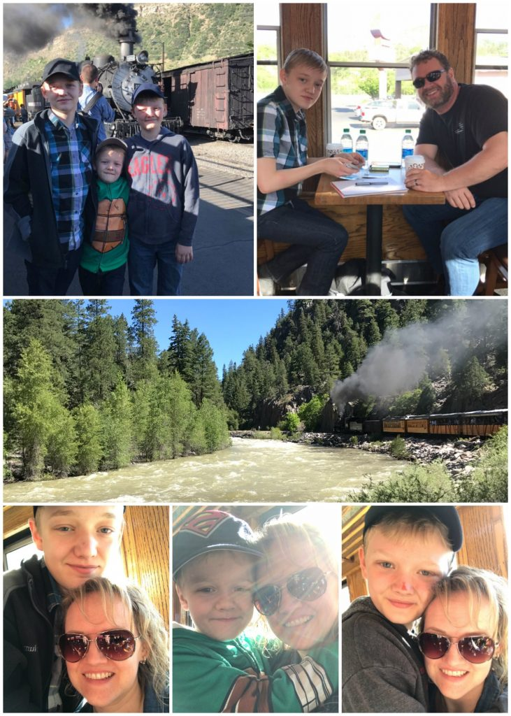 Riding the working steam engine train on the Durango Silverton Narrow Gauge Railroad