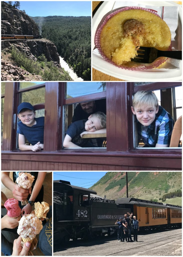 Riding the train on the Durango Silverton Railroad