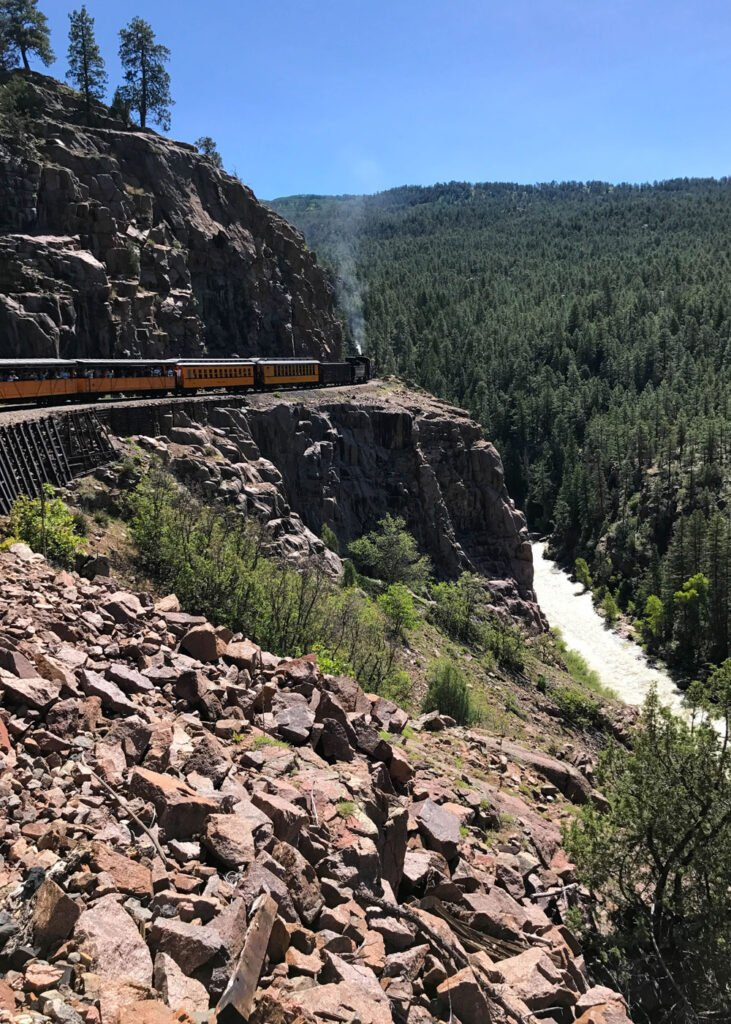 Spend a day riding the train on the Durango Silverton Narrow Gauge Railroad - it's a trip through history!