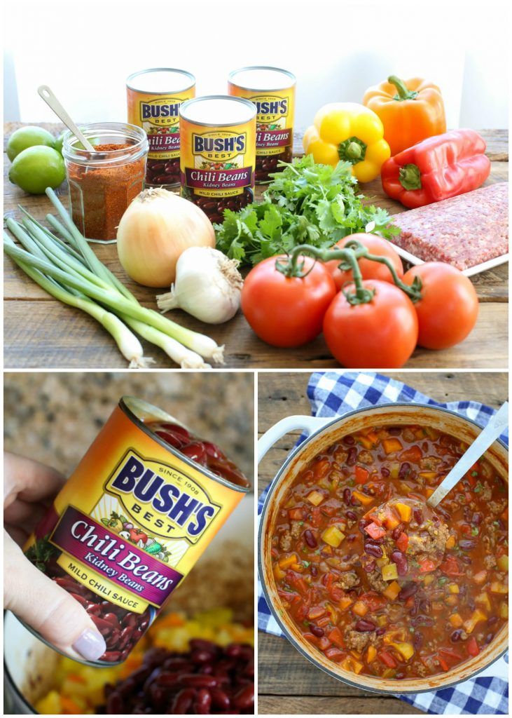 Hearty Pepper Chili is a delicious chili filled with fresh vegetables - get the recipe at barefeetinthekitchen.com