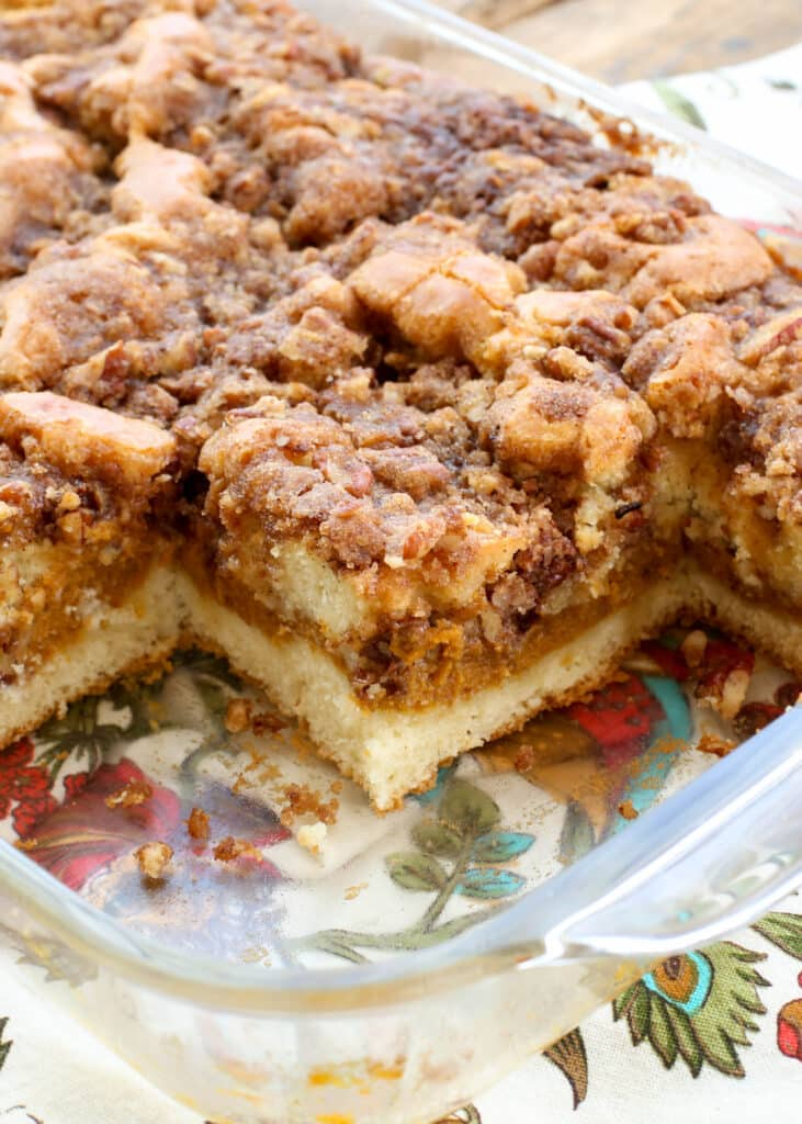 This Pumpkin Coffee Cake is irresistible!