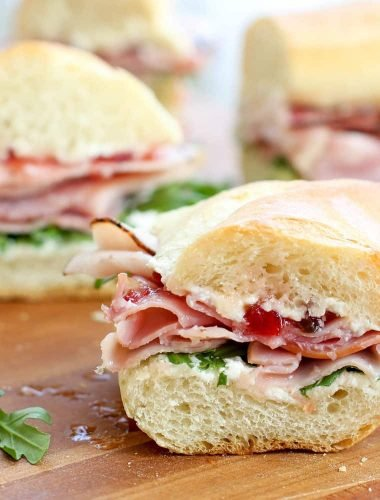 The Best Ham Sandwich you will ever eat! get the recipe at barefeetinthekitchen.com