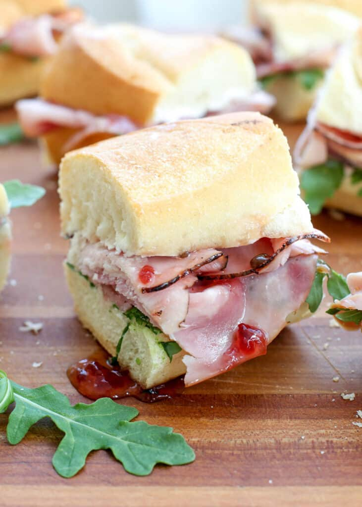 This really might be the best ham sandwich of your life! get the recipe at barefeetinthekitchen.com