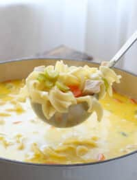 The whole family loves this Creamy Turkey Noodle Soup