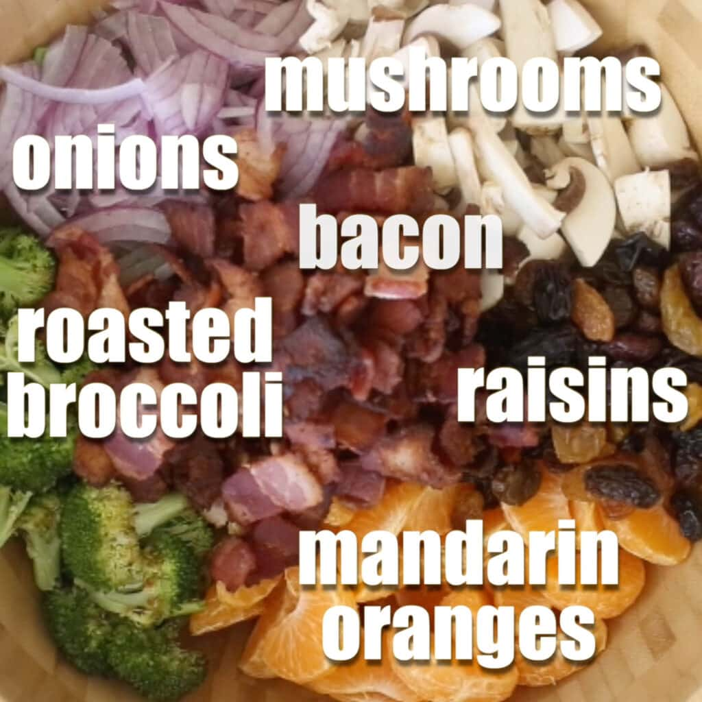 There is so much deliciousness in this broccoli salad!