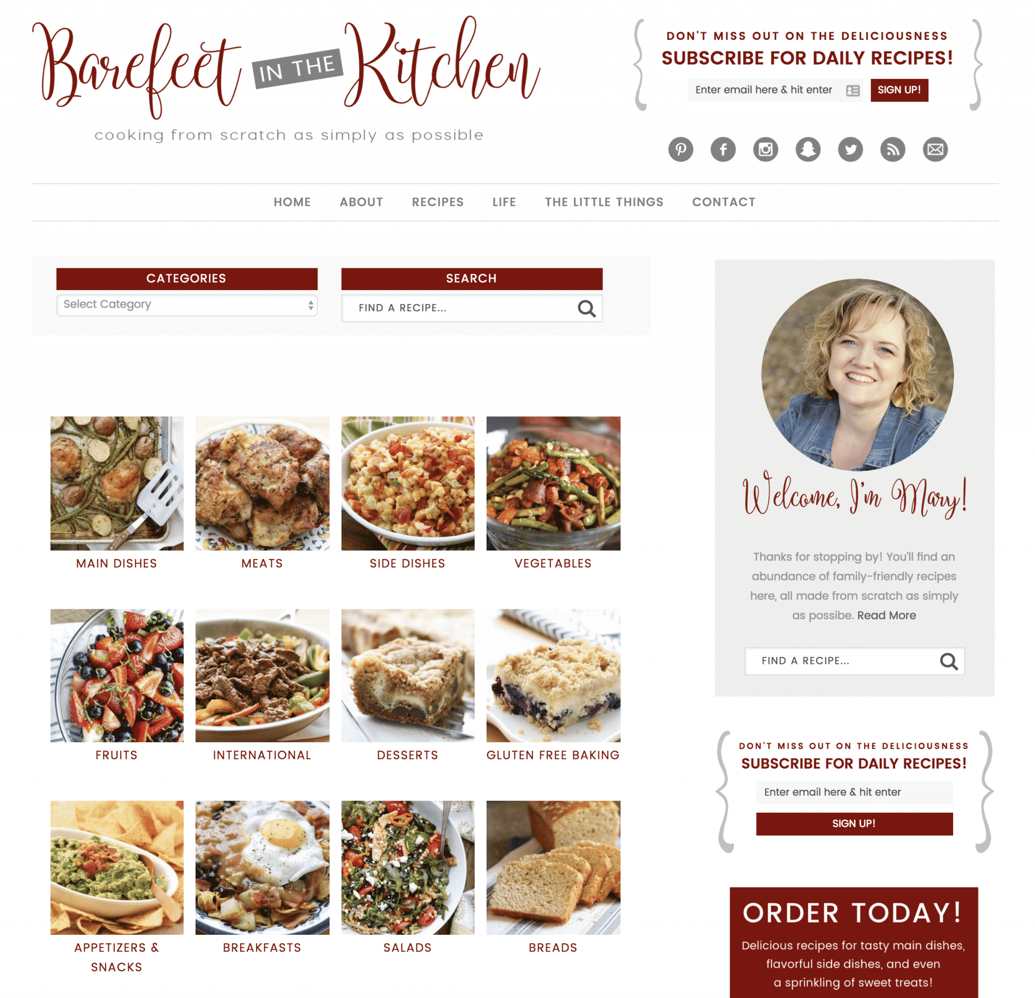 Barefeet In The Kitchen's new recipe index makes finding the perfect recipe easier than ever!
